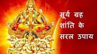 Surya Grah Shanti Aur Dosh Door Karne Ke Liye Upay