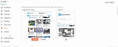 Menu Html Pada dashboard Blogger