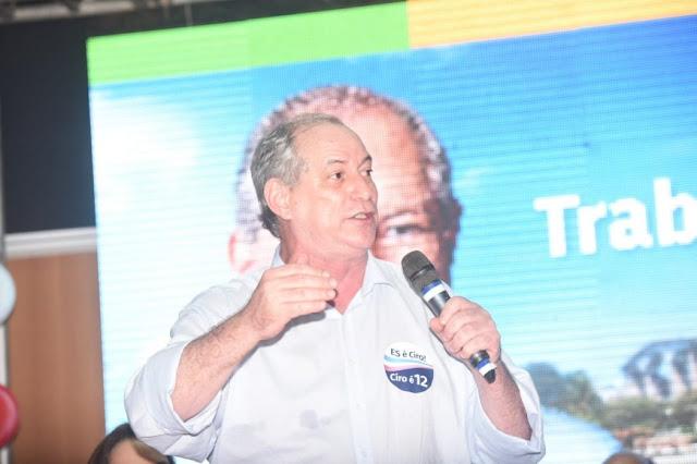 Se Bolsonaro ganhar, choro e saio da política, diz Ciro Gomes