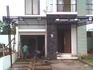 Canopy minimalis atap polycarbonate