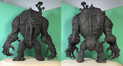 First Look Man-Thing Marvel Soft Vinyl Figure Sculpt by James Groman x Mondo