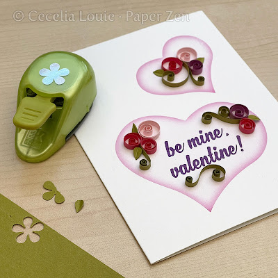 Quilling Heart for Valentine Card - flower petals