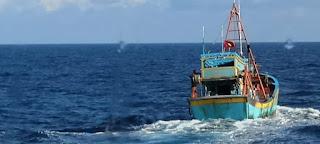 TNI AL Tangkap Kapal Ikan Vietnam di ZEEI Laut Natuna Utara
