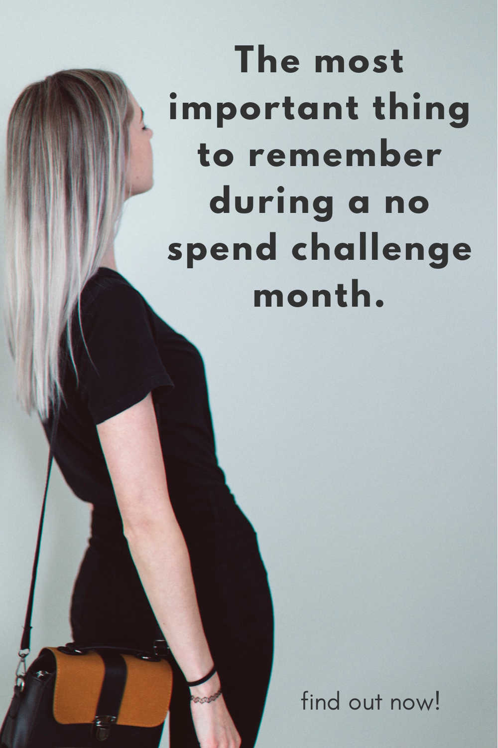 the most important thing to remember during a no spend challenge