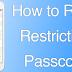 Reset Restriction Passcode On iPhone & iPad Using iBackupBot