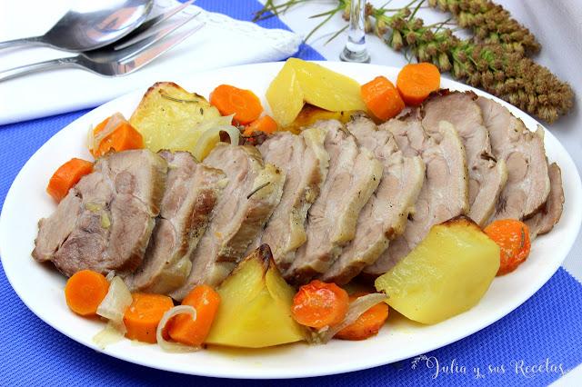 Redondo de cerdo al horno. Julia y sus recetas