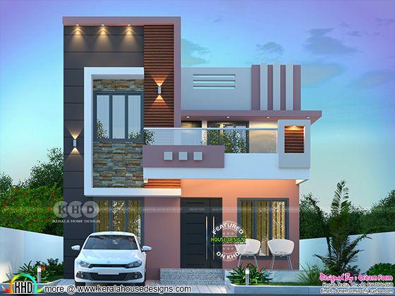 1525 sq. ft. modern home design