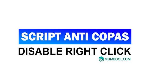 Cara Disable Klik Kanan Mengatasi Anti Copas