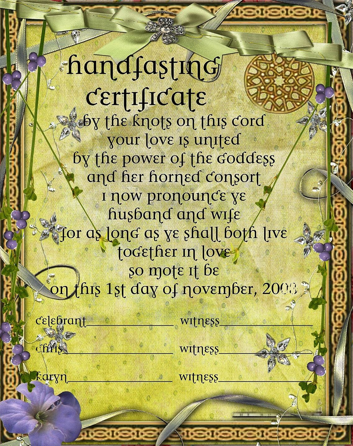 Nordic Wiccan Handfasting Ceremony