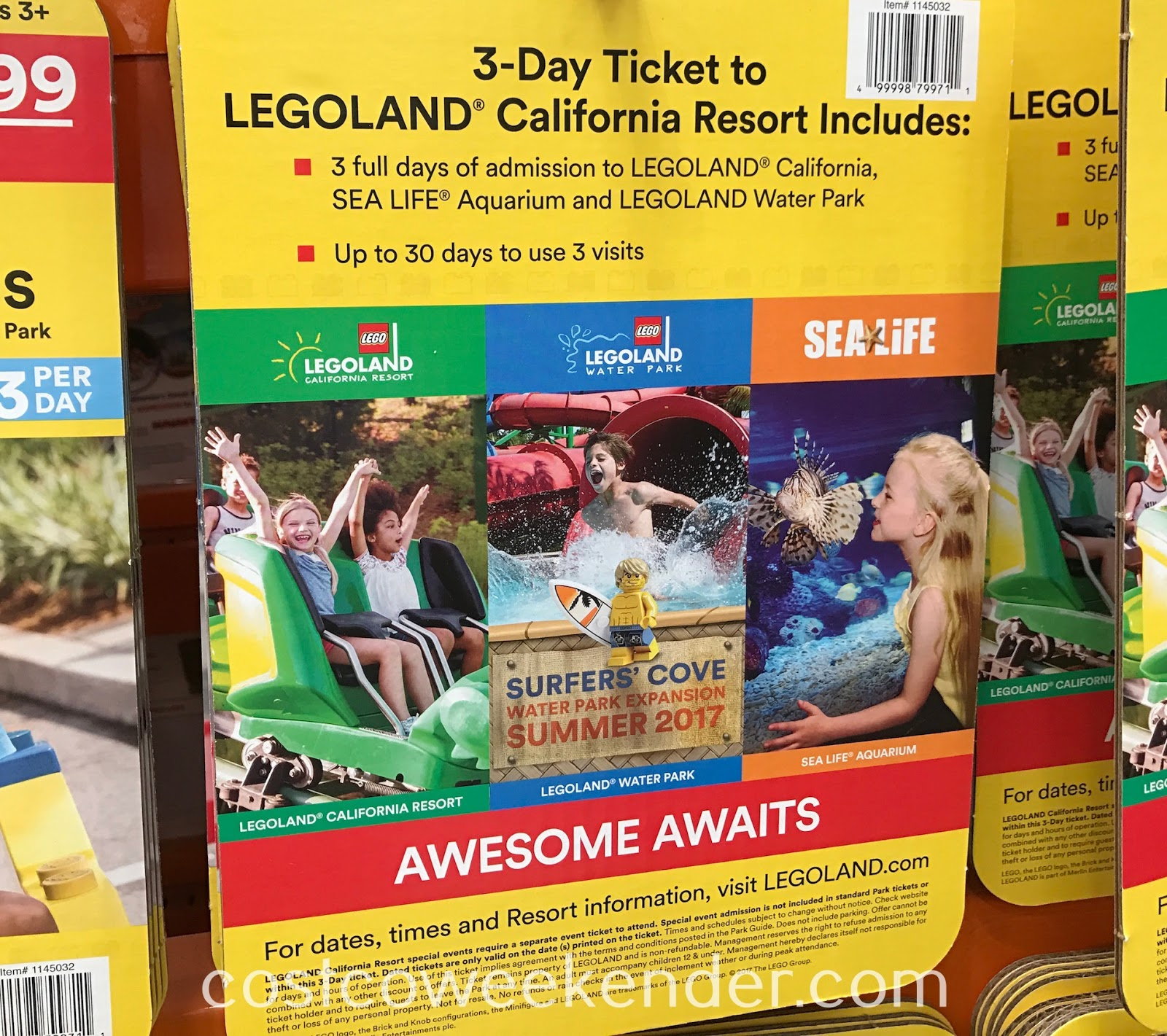 Costco 1145032 - Bring out your inner child with the Legoland California Resort 3 Day Hopper Ticket