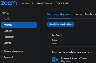 كيفية جدولة اجتماع Zoom