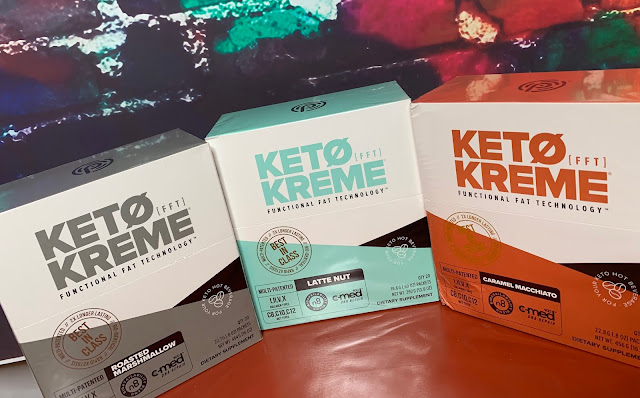 keto kreme, pruvit, jaime messina, roasted marshmallow, fatty coffee, latte nut, caramel macchiato,