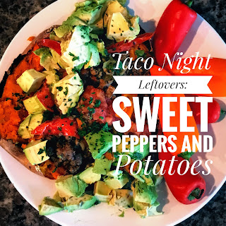Taco Night Leftovers: Sweet Peppers and Potatoes