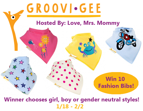 Groovi Gee Set of 10 Fashion Bibs