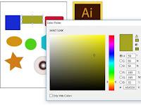 Step 7 Belajar Adobe Illustrator : Cara Mewarnai dan Mengatur Garis Objek