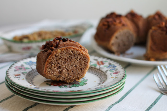 Food Lust People Love: This walnut butter Bundt cake is delightfully flavored with homemade toasted walnut butter, which is super easy to make. The walnuts at the bottom of the pan are a pretty topping when the cake is turned upright.
