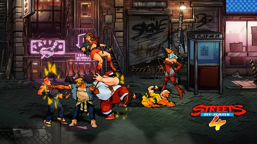 streets of rage 4 dotemu side-scrolling beat 'em up