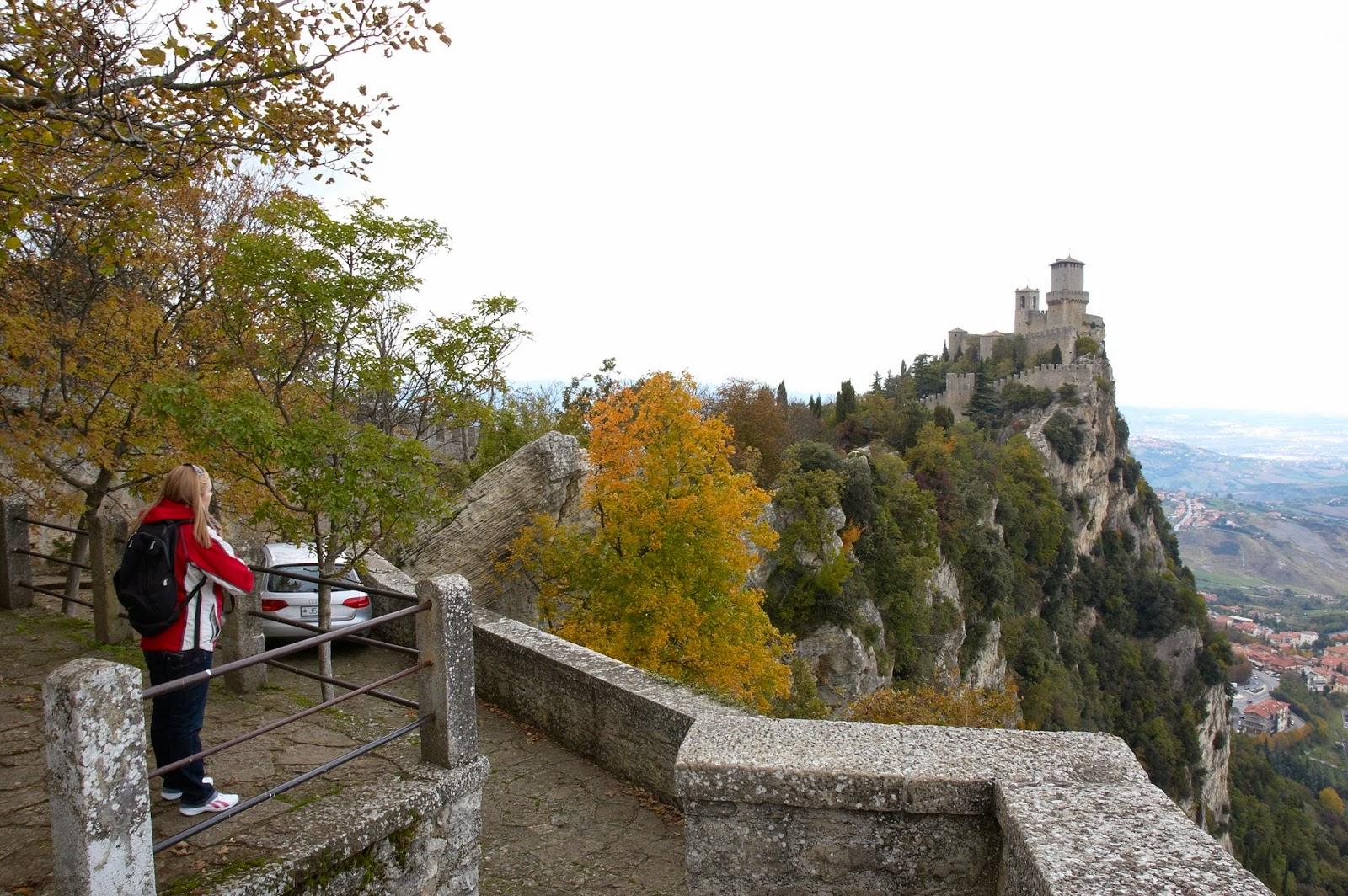 widok na zamek San Marino
