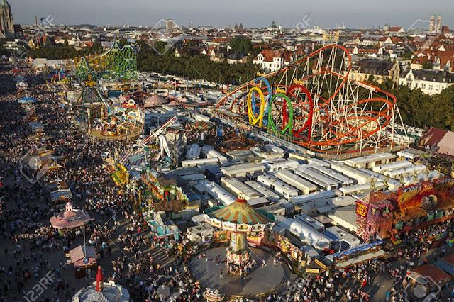 Complexo Theresienwiese da Oktoberfest na Alemanha