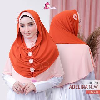 Jilbab Moderen Instan Adelina New salmon