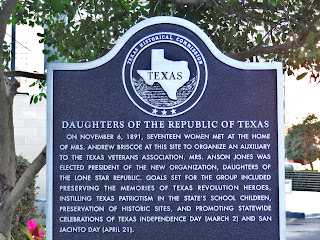 Daughters of the Republic of Texas Historical Commission Marker in Downtown Houston near Minute Maid Park