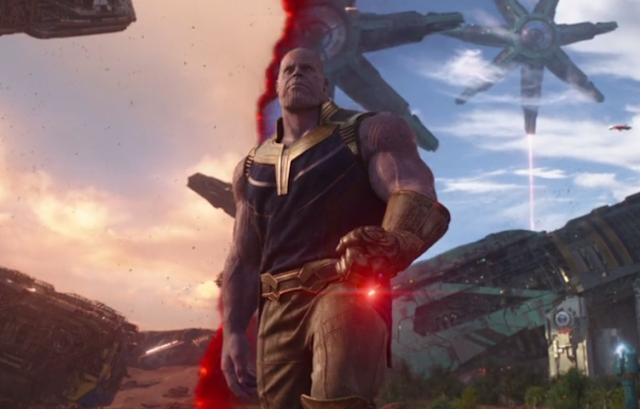 Scared Thanos in Marvel(Overpopulation)