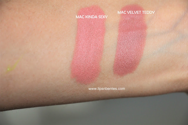 MAC Kinda Sexy vs MAC Velvet Teddy