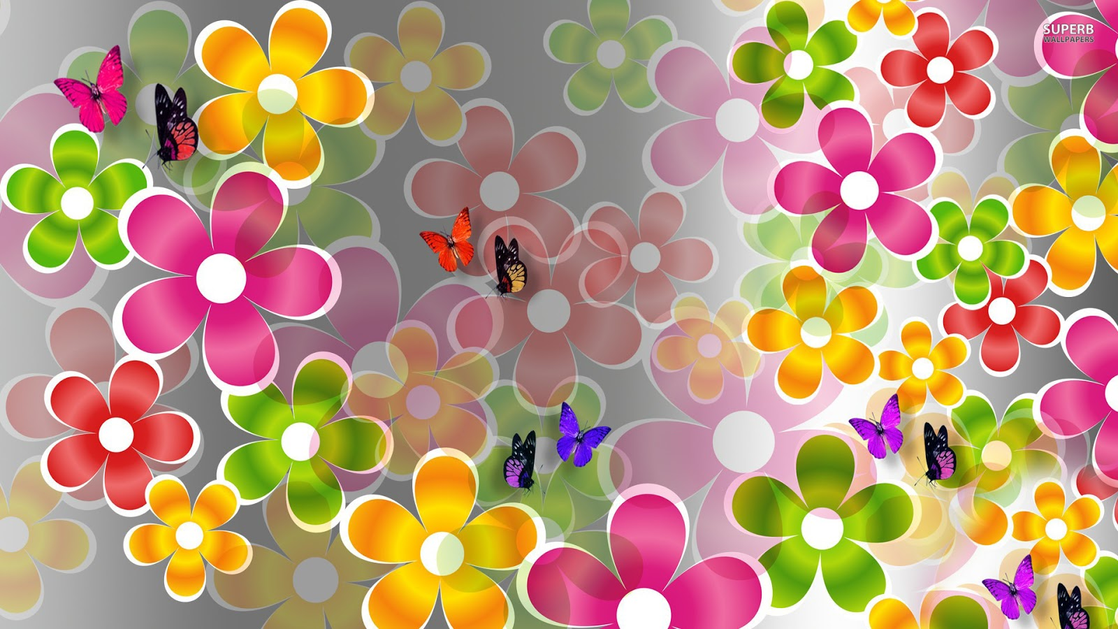 download wallpaper multicolored butterflies - photo #38