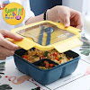 Kotak Makan Sekat 2 Free Sendok Sumpit Anti Tumpah 1100 ml
