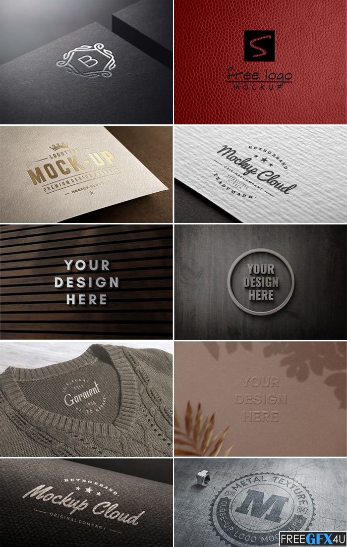 Awesome 9 Branding Logo PSD Mockups