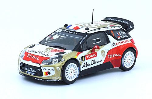 collezione rally monte carlo Citroën DS3 WRC 2013 S. Loeb - D. Elena