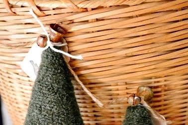 Boiled Wool Christmas Tree Ornaments