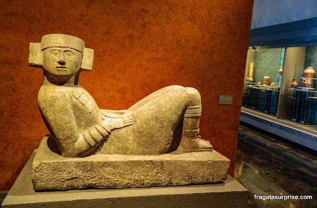 Chac Mool, pedra de sacrifícios da Cultura Maia encontrada em Chitzen Itza