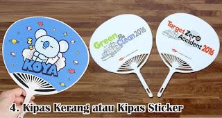 Kipas Kerang atau Kipas Sticker merupakan salah satu jenis kipas promosi yang cocok untuk dijadikan souvenir