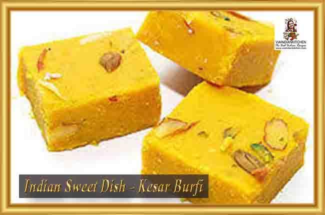Indian Sweet Dishes - Kesar Burfi