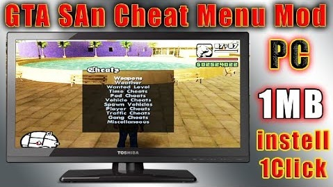 GTA San Andrea Cheat Menu Mod For PC Free Download
