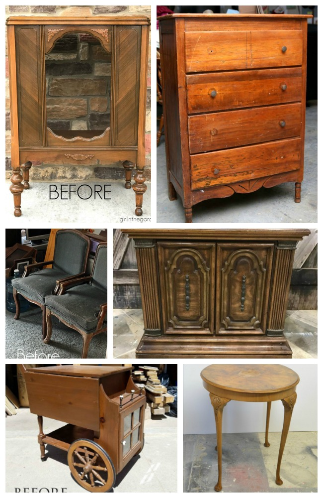 Furniture Fixer Uppers Before Photos for April