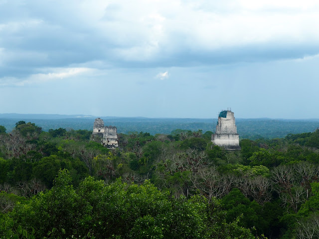 View from temple 4 looking over Tikal, Guatemala (the Star Wars scene)
