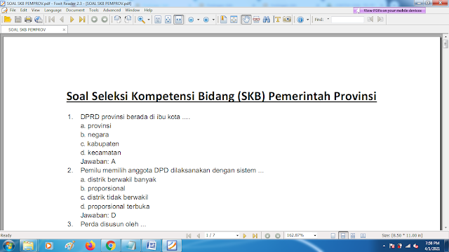 Download contoh soal pppk skb pemprov dan kunci jawaban
