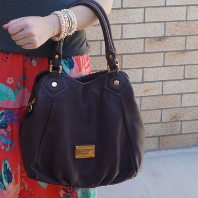Marc By Marc Jacobs Classic Q Fran bag with gold hardware in carob brown | awayfromtheblue