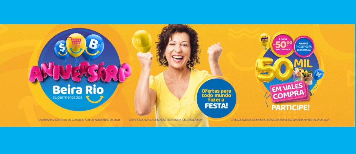 Promoção Aniversário 2020 Beira Rio Supermercado
