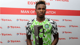 2019 Afcon: Chukwueze Revels After Man of the Match Performance 'It's a dream come true'