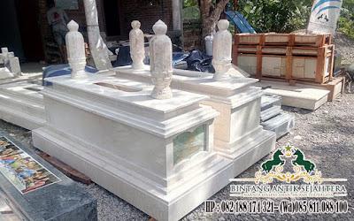 Makam Islam Bahan Marmer, Kijing Makam Model Uje, Harga Pusara Makam Marmer