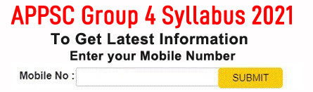 APPSC Group 4 Syllabus 2021