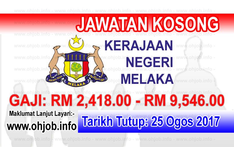 Jawatan Kerja Kosong Kerajaan Negeri Melaka logo www.ohjob.info ogos 2017