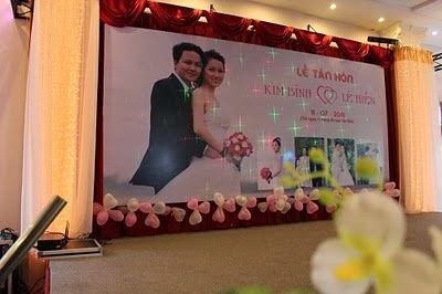 in backdrop cưới