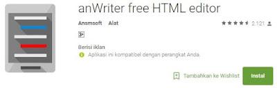anWriter free HTML editor