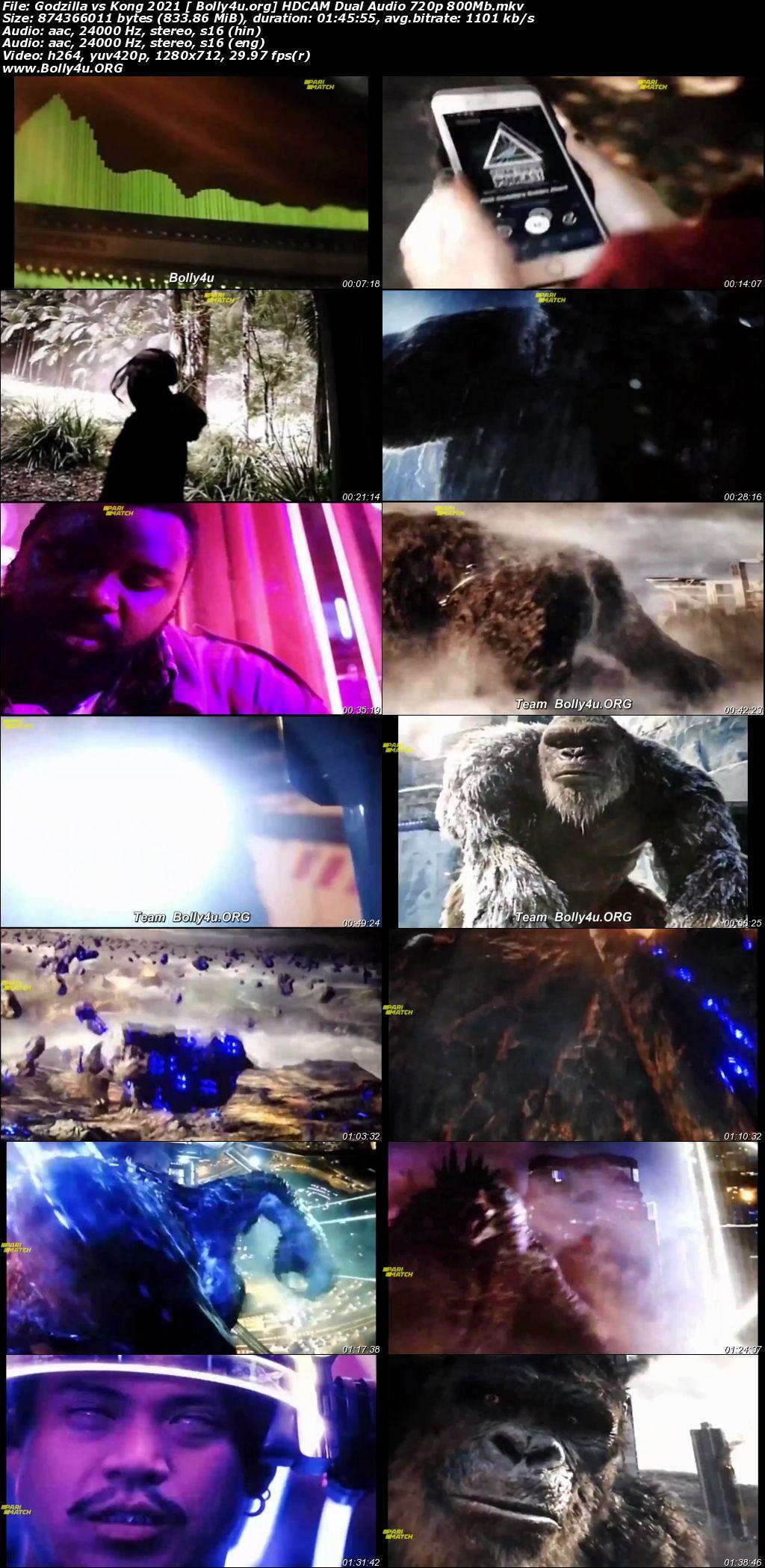 Godzilla vs Kong 2021 HDCAM 800Mb Hindi Dual Audio 720p Download
