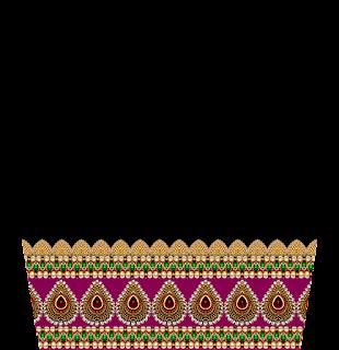 Jewelry Print Lehenga Textile Digital Design - Slive 2739
