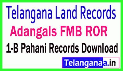 Telangana (TS) Adangals Pahani ROR 1B FMB Tippan Free Download